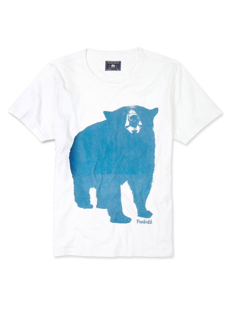 White big bear t shirt by penfield back for fall winter 2012