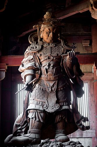 Statue, temple - Todai-ji Temple in Nara Prefecture, Japan. #Japan #Nara - 東大寺, 奈良県, 日本