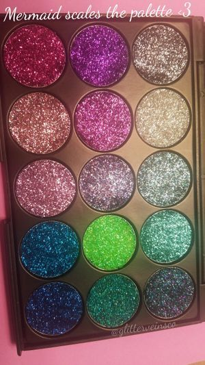 Pressed glitter Mermaid scales  palette