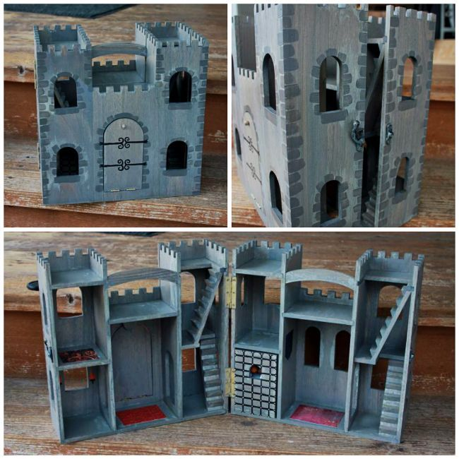 Michaels Unfinished Wood Castle Painted Imaged Yahoo Image