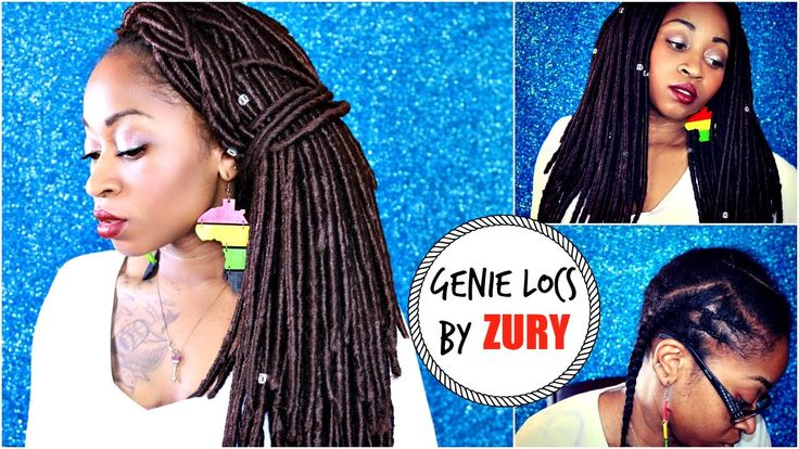 How To Do  Natural Looking  GENIE LOCS (Faux Loc Crochet Braids)  UNDER ...