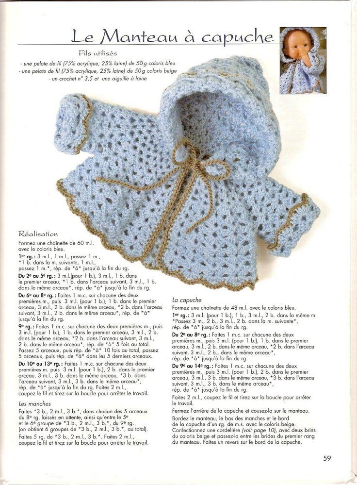 спицами вязаная схемы и куклы кофта описание для