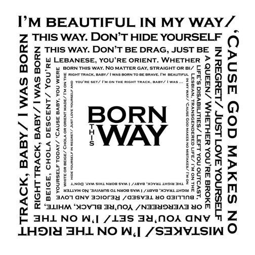 "Lady Gaga ""Born This Way"" Printable at printabledecor.net by A Smith of All Trades #printable #LadyGaga"