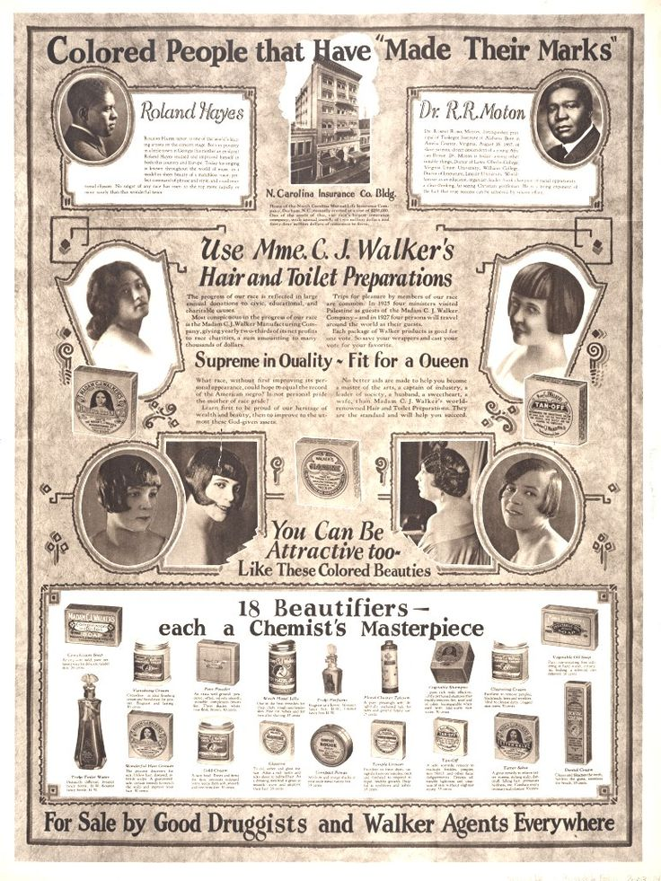 Vintage advertising for Madam C. J. Walker Manufacturing ...