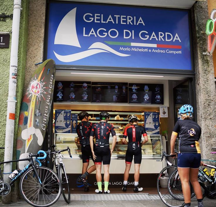 Riding an awesome loop with friends icecream and coffee... that's cycling at it's best :-). . . #guee #bartape #siodura #gmount #cyclingkit #roadcycling #brocycling . . #coffeebreak #gelateria #lagodigarda #cappuccino #spin #cycling #outdoors #biking #bike #cycle #bicycle #instagram #fun