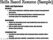 a list of skills for a resumes