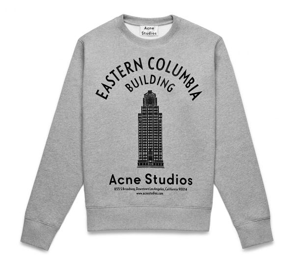 ACNE STUDIOS - Eastern Columbia Building Sweatshirt [The message next to the only size option available that would fit me said 'only 2 pieces left!' Happy Birthday Luck!][ADDENDUM: HELLA COMFY][ADDENDUM2: I am a bit concerned about the typeface/image. They seem as though they will erode with washings...]