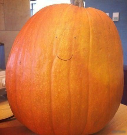 Моя тыква на Хеллоуин.