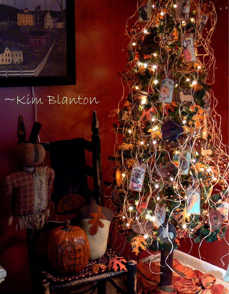 primitive fall tree by kim blanton - Halloween And Fall Decorations