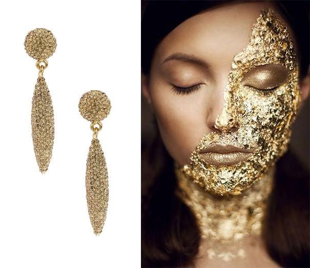 Kolczyki SHARON GOLD dla wyrafinowanej i modnej kobiety. Eleganckie, a przy tym kobiece i zmysłowe, urzekają piękną kolorystyką i niebanalnym designem. Wysmuklają twarz, dodają wdzięku i podkreślają urodę właścicielki.  http://scallini.pl/bizuteria_damska/kolczyki/sharon_gold.html