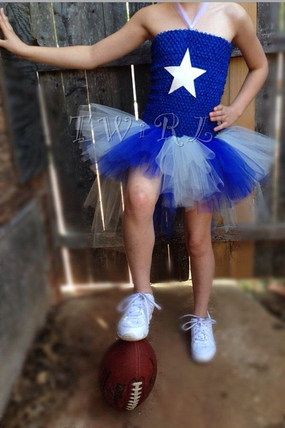 The Dorthy  Cowboys football cheerleader tutu Cowboys by TheTwirl