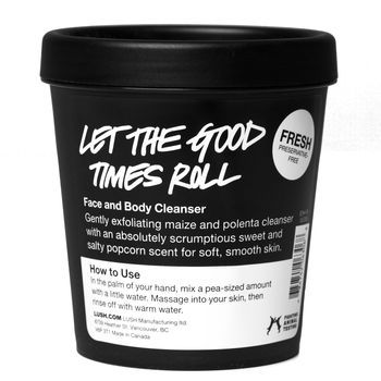 Let the Good Times Roll, this has a very light exfoliation and the smell makes you want to eat it.  I'll definitely be buying again.