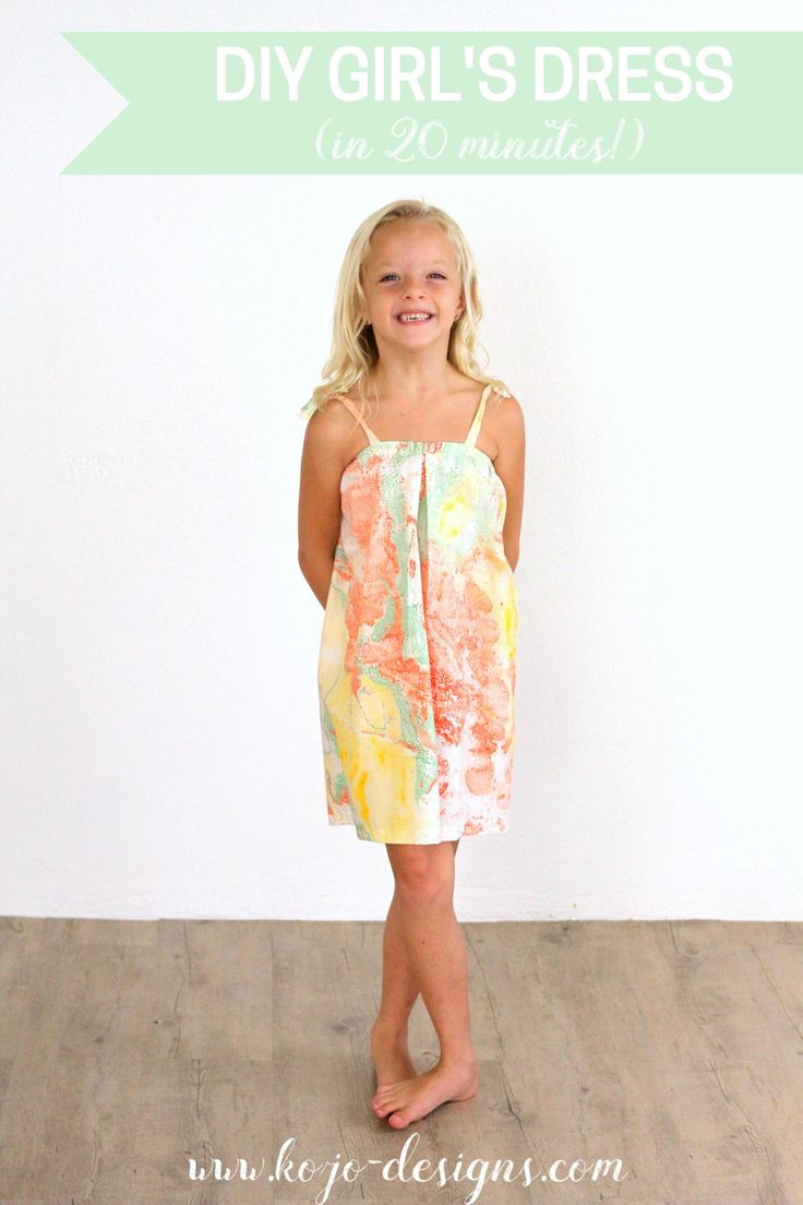 how to make a supercute little girl's dress in 20 minutes
