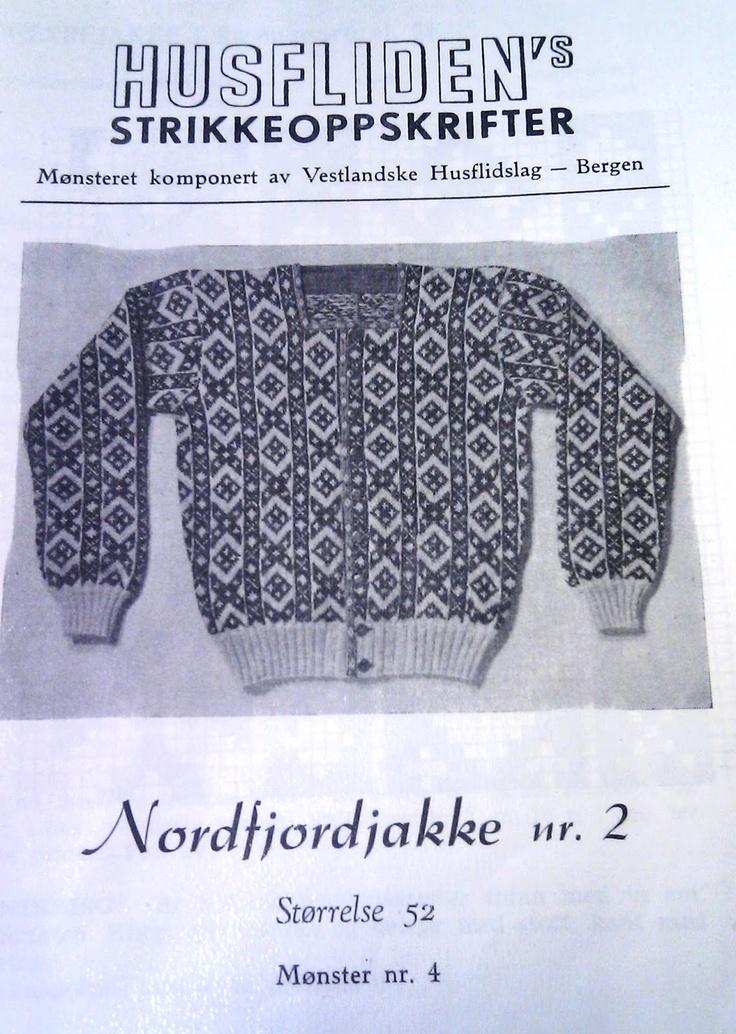 Nordfjordjakke nr 2, mønster 4