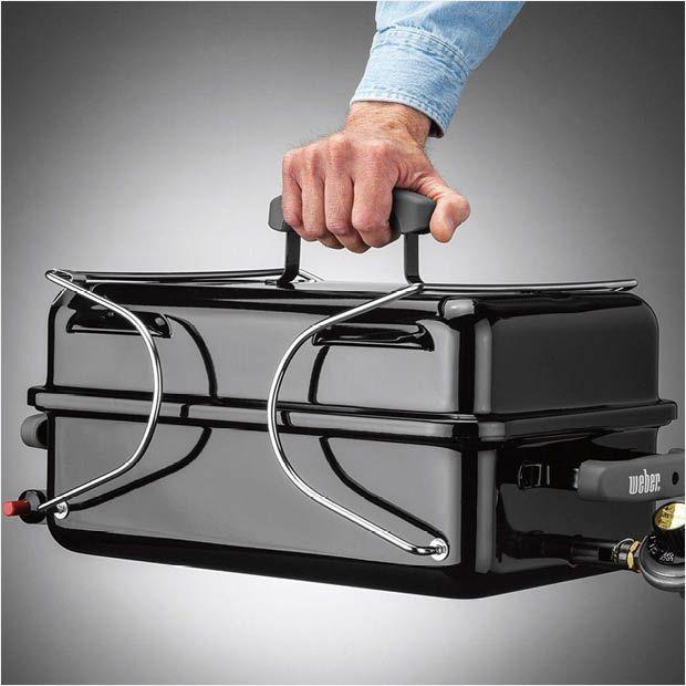 Weber Go Anywhere 1 Burner Portable Propane Gas Grill In Black