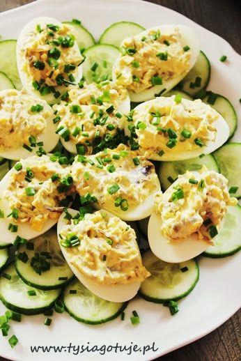 Jaja faszerowane pieczarkami i cebulką | Tysia Gotuje