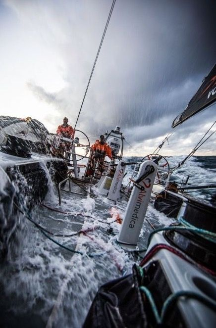 Extreme Sailing ( totally waterproof clothing that is tough and breathable is essential for such conditions ( especially in cold parts of the mediterranean Ocean or North Sea etc !! )