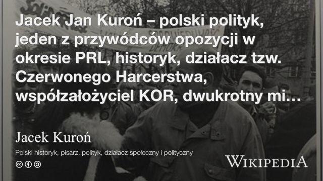 """Jacek Kuroń"" på @Wikipedia:"