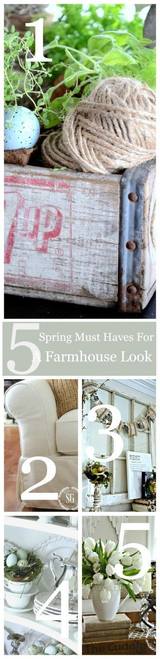5 SPRING MUST HAVES FOR A FAMHOUSE LOOK-easy ways to bring farmhouse charm to your home this spring-stonegableblog.com
