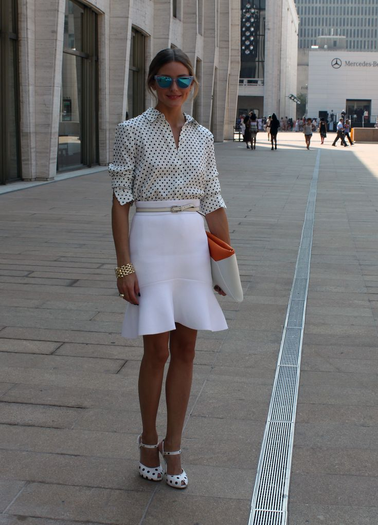 Lincoln Center with Johannes for Rachel Zoe. I am wearing a Tibi shirt, Scanlan & Theodore skirt, Belt by Reiss, sunglasses by Westward Leaning, Truth or Dare by Madonna shoes and a Smythson bag.