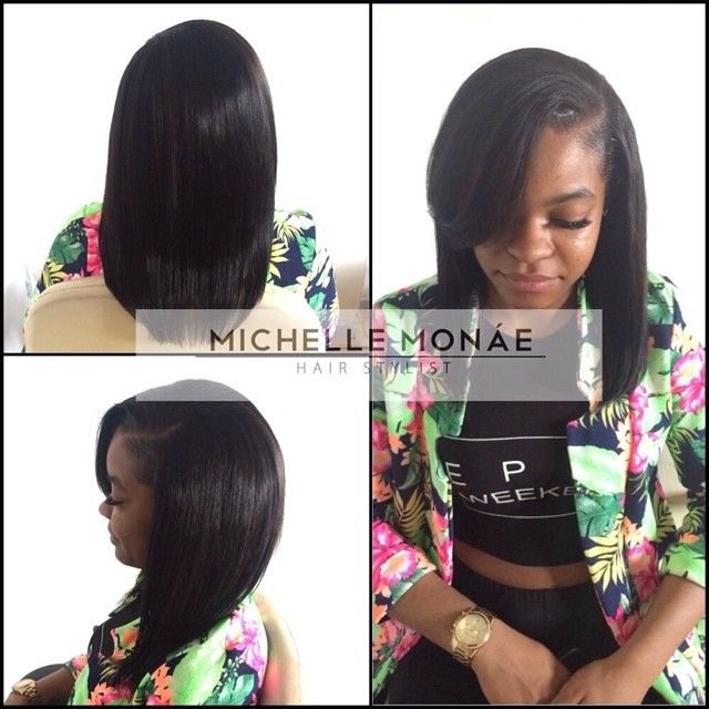 sew in with leave out - Google Search | Beauty | Pinterest | Weave hairstyles, Hair style and ...