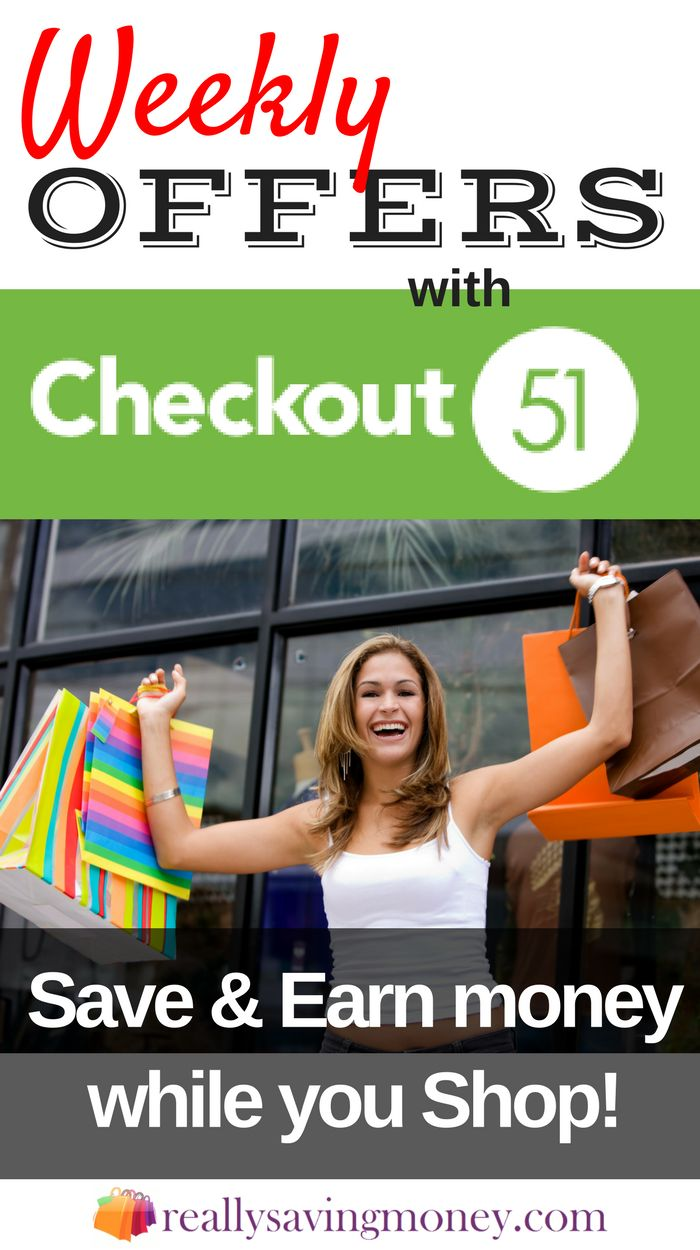 . Save and earn money while you shop with Checkout51. Coupons and discounts at your favorite stores. Saving money | shopping on a budget | grocery deals | discount shopping | earn money shopping | make money online | save money | frugal living tips | shop