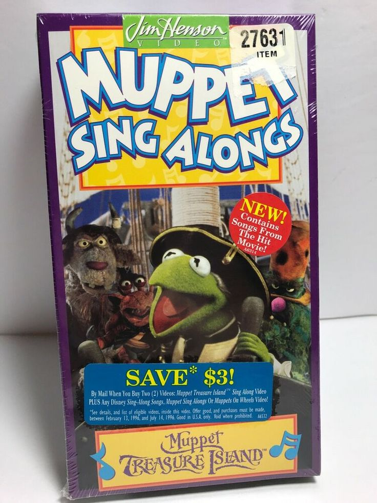 Muppet Sing Alongs Vhs Movie Muppet Treasure Island Jim Henson Video 1996 New Muppets Treasure Island Pirate Songs