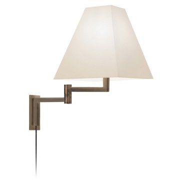 Sonneman Square One Light Swing Arm Wall Lamp In Europa Bronze