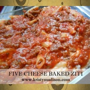 Five Cheese Baked Ziti Recipe - Food Magazine | I Love to Cook ...