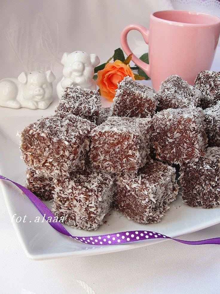 Ala piecze i gotuje: Kostka kokosowa - lamingtony