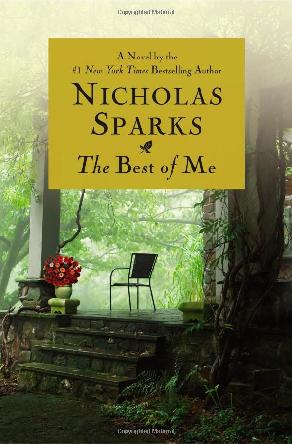 The Best of Me by Nicholas Sparks -- still undecided.  Not my fav NIcholas Sparks but all his books are good.