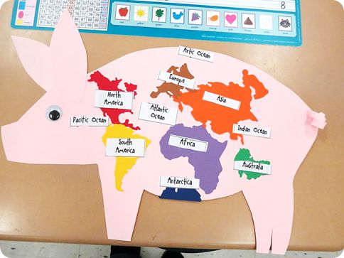 Geography with the book Chester the Worldly Pig
