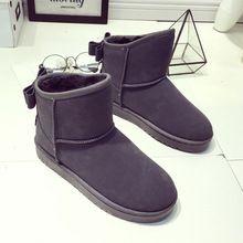 Yeni Kış Çizmeler Kadınlar 2016 Sıcak Satış Kar Lüks Ayak Bileği Siyah keçe Çizmeler Bot Kürk Seksi Moda Yeni Sonbahar Ayakkabı üzerinde Kayma düz(China (Mainland))