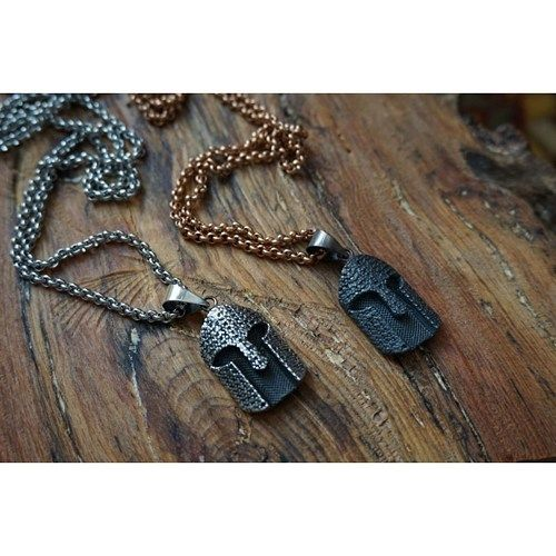 Gladiator necklaces, for sale, 925 silver mask necklace