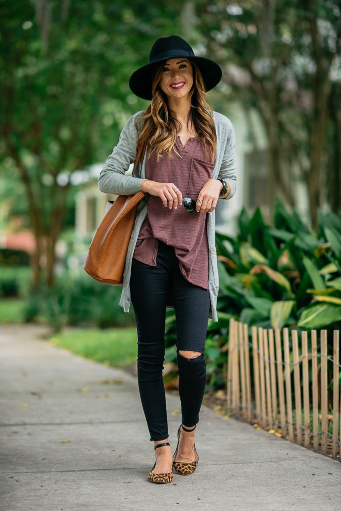BLACK DISTRESSED DENIM   FALL OUTFIT INSPIRATION