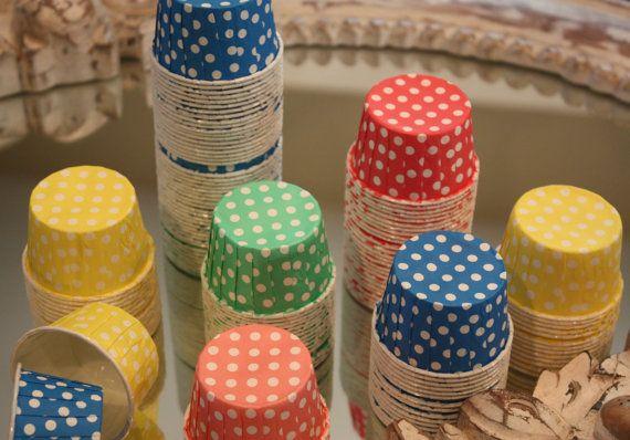 MINI Candy Cups Polka Dots by GlitterDaisyShop on Etsy: Kids Parties, Polka Dots, Candy Cups, Minis Dog Qu, Cups Polka, Minis Candy