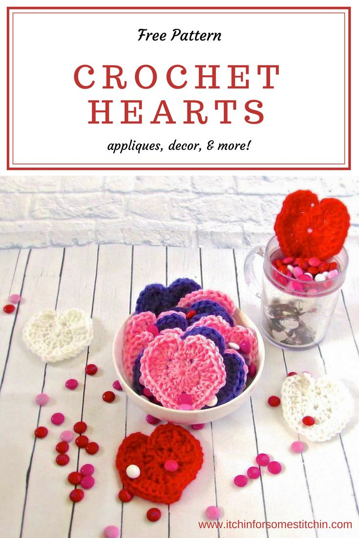 Crochet hearts are a great beginner project because they work up fast & are easy to do. They are the perfect Valentine's Day project! Learn how to make them with this simple pattern & whip up a bunch of your favorite colors to use as appliqués, decorations, & gifts.