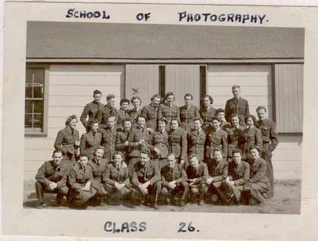 Royal Canadian Air Force School of Photography, Class 26, in Rockcliffe, Ontario, 1943. For more: www.elinorflorence.com/blog/rcaf-photography.