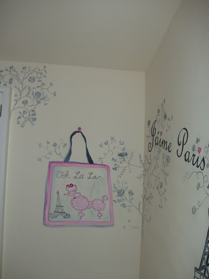 French poodle bag mural for Girls