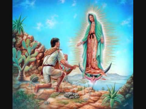 Oracion A La Virgen Maria De Guadalupe. The picture is cheesy, but the prayer is nice