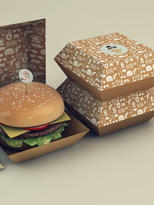 Illegal Burger by Isabela Rodrigues, via Behance