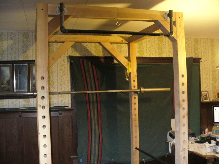 Squat rack garage gym diy pinterest squats and