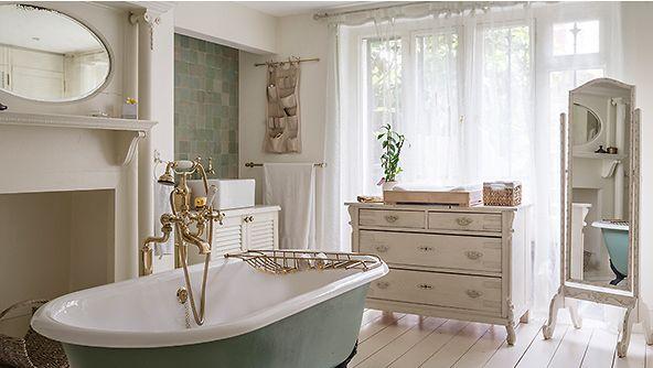 Salle de bains romantique plaisir du bain romantique for Salle bain romantique