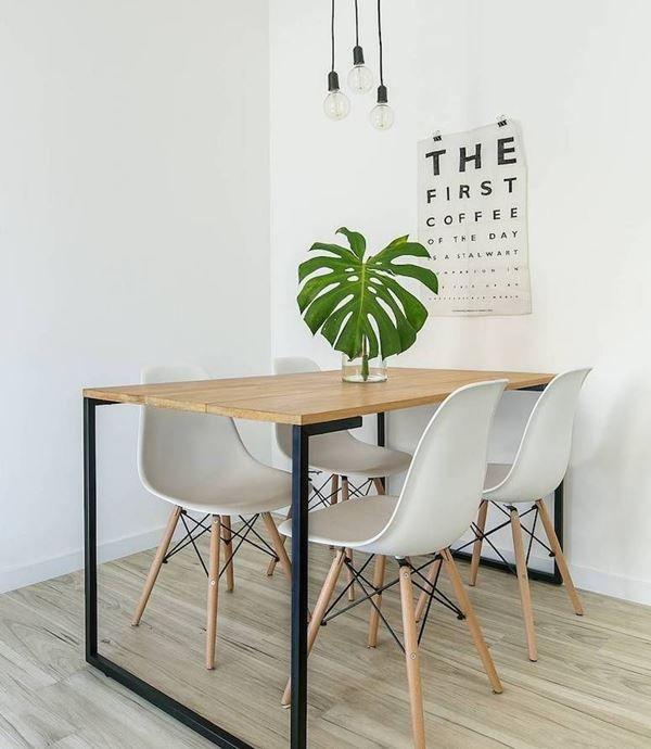 36 pequenas mesas de cozinha que harmonizam a decoração! – Decoração …   – Reforma do mobiliário