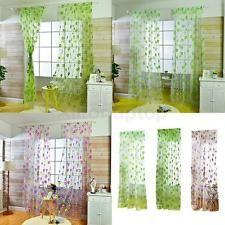 Blumen Grün Blatt Tüll Vorhang Vorhänge Gardine Voile Für Fenster