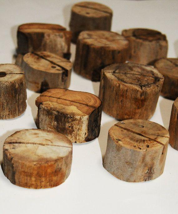 Winter Hochzeit Kartenhalter Driftwood von Seagypsys auf Etsy