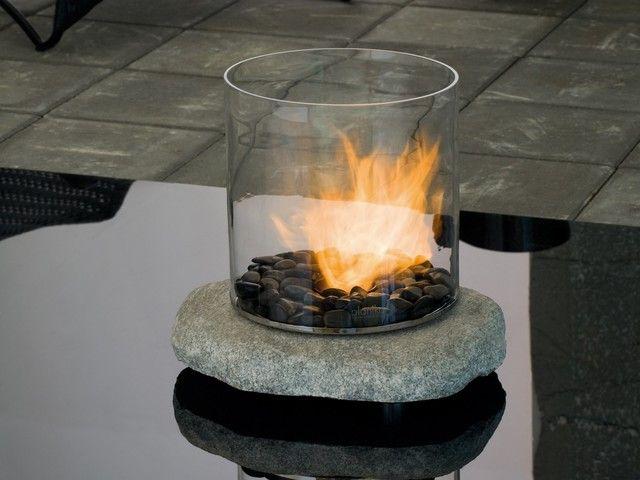 Planika 18'' x 16'' Stone Tabletop Portable Fireplace modern #Portable_Fireplace