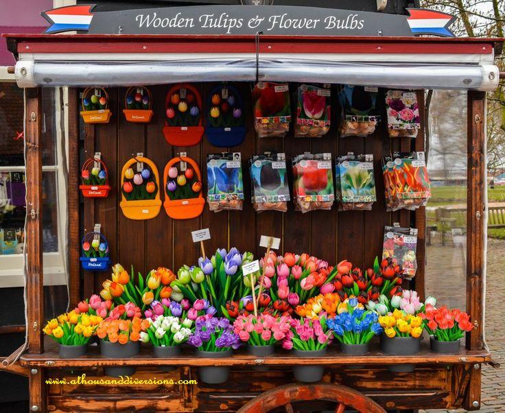 #woodentulips for sale at #ZaanseSchans #Netherlands