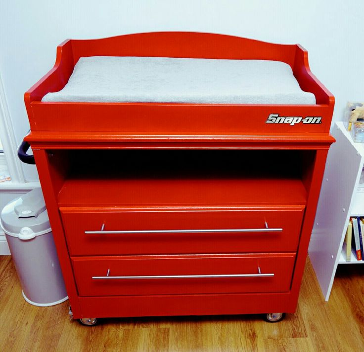Mechanic Dad Baby snap on tool box change table