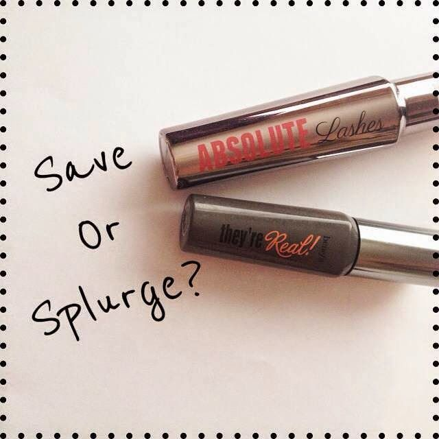 long hair and lashes: Save or Splurge? | Benefit's They're Real! Mascara Dupe.